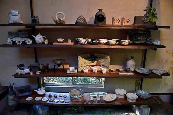陶芸 陶芸家 仲本律子 笠間市 紅葉 展示 陶芸作品 焼き物