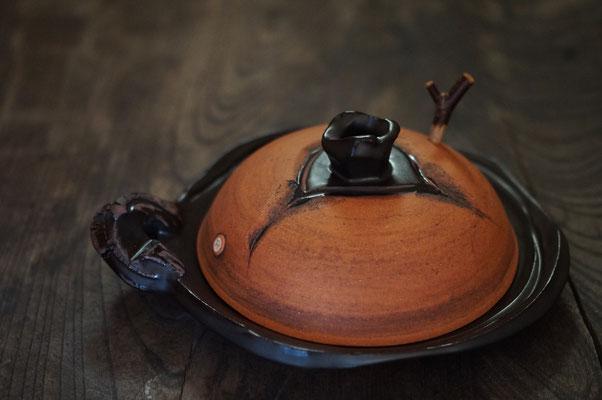 仲本律子 陶芸家 笠間焼き 土鍋 陶板 平皿 直火炊き
