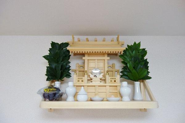 鹿屋野一社(木曽ひのき)&国産桧製の神棚板