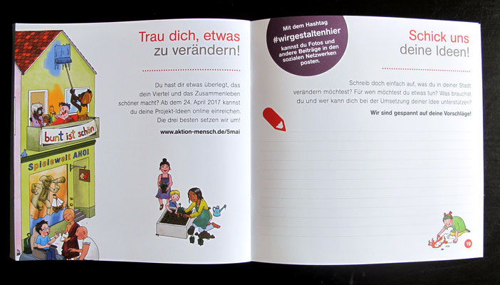 Aktion Mensch, Aktionstag 5. Mai 2017, Broschüre