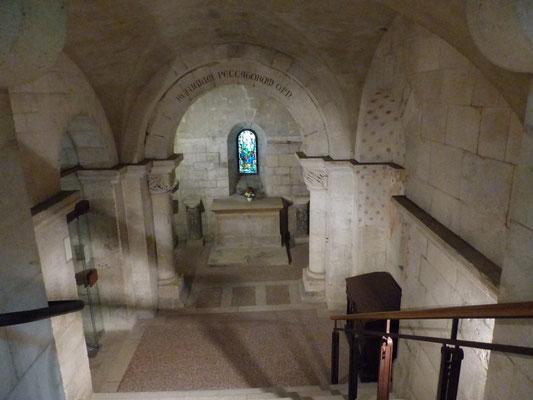 La crypte de la cathédrale