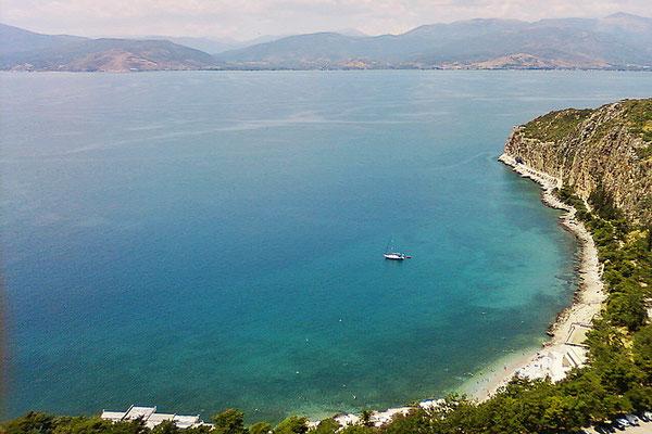 Blick auf die Bucht von Nafplio
