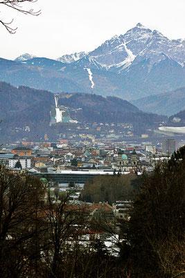 Blick auf Innsbruck und Schanze, Österreich