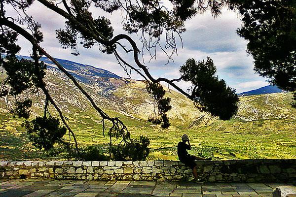 Aussicht vom Kloster Hosios Lukas/Osios Loukas