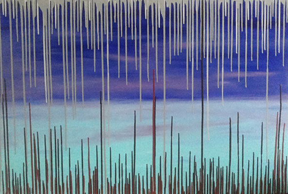 28 Turquoise drops    80x120                      2015