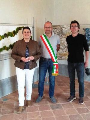 Sindaco Fabrizio Giacomo Nasi e Dott.ssa Monica Giraudo
