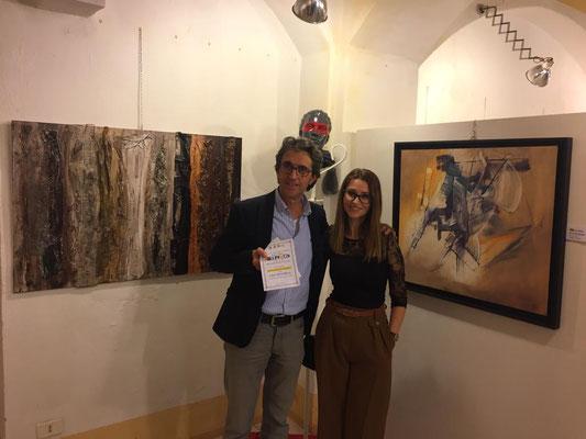 Con l'amica Artista    Flor Art&Design
