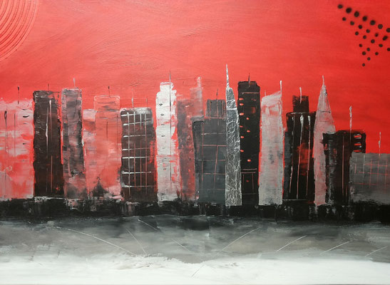"29 In the evening in  New York.  60x100         ""2015"""