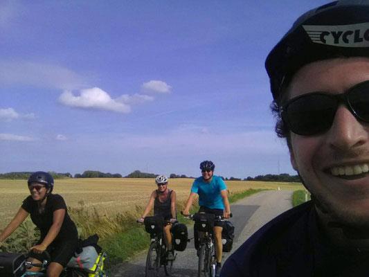 Mit Alice und Gil beim Radeln
