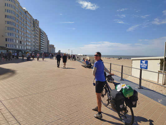 Belgische Strandpromenade
