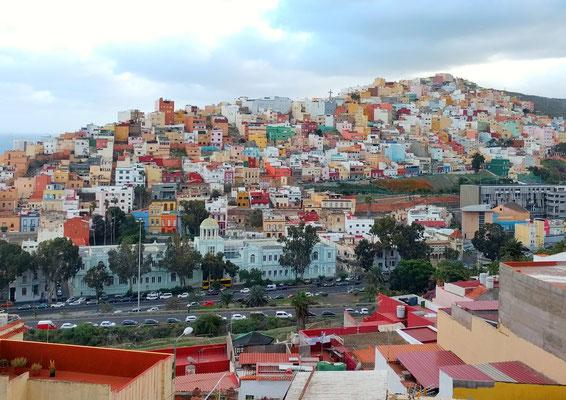 Bunte Häuser in Las Palmas (Stadtteil San Juan)