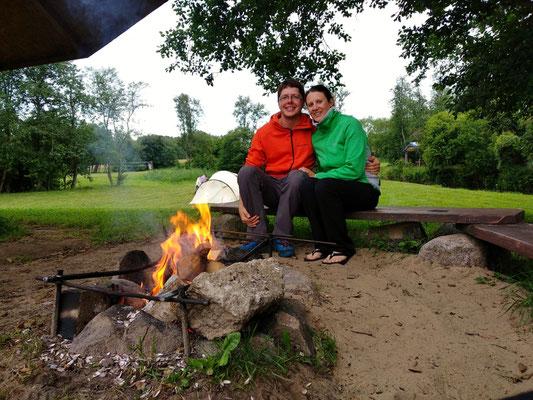 Ein Campingplatz für uns allein :-)