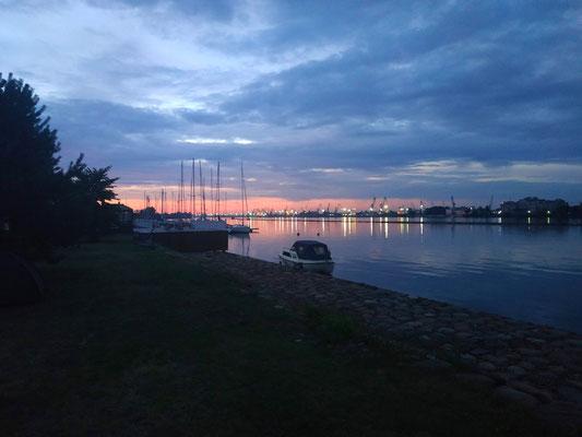 Ausblick auf Riga vom Campingplatz