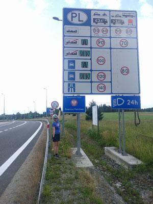 In Polen angekommen