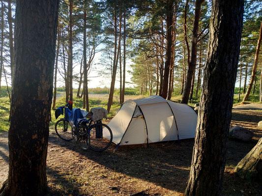 Camping an der Nordküste Estlands