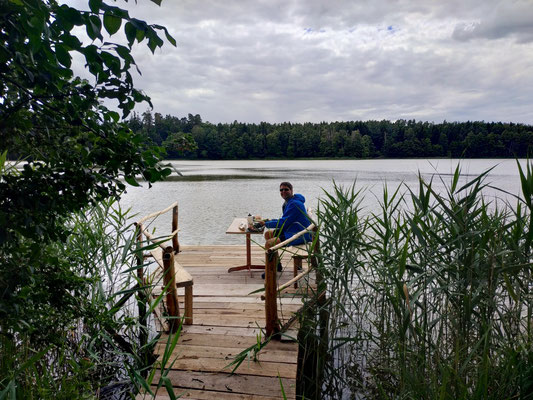 Feine Pause an einem See