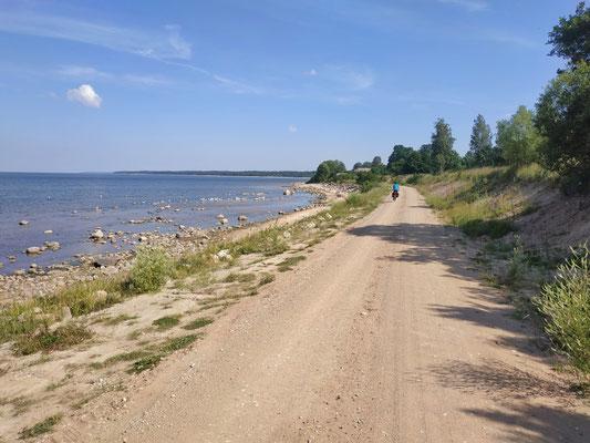 An der Westküste Lettlands entlang am Meer
