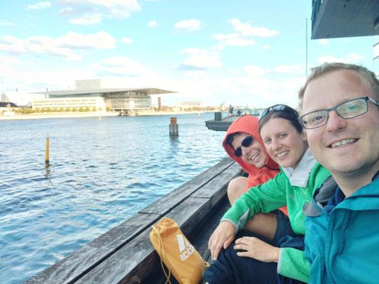 Pause am Hafen in Kopenhagen