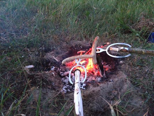 Grillen am Feuer