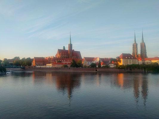 Blick auf die Altstadt in Wroclaw