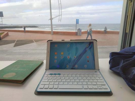 Arbeit am Strand