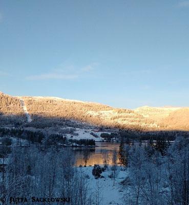 Wintersonne in den Bergen
