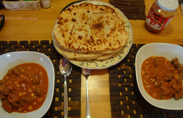 Lammcurry mit Nan-Brot
