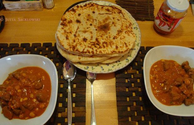 Lammcurry mit Nan-Brot