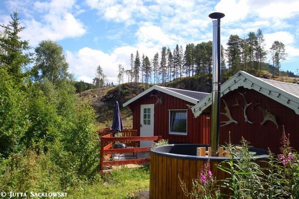 Ferienhütte mit Badestamp