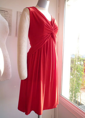 robe drapée rouge