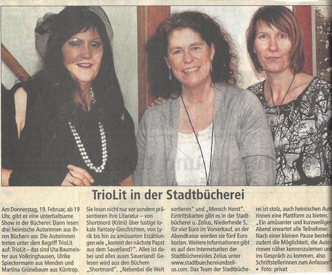 TrioLit in der Stadtbücherein Neuenrade 19.02.15