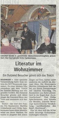 Lesung bei der SGV in Neuenrade