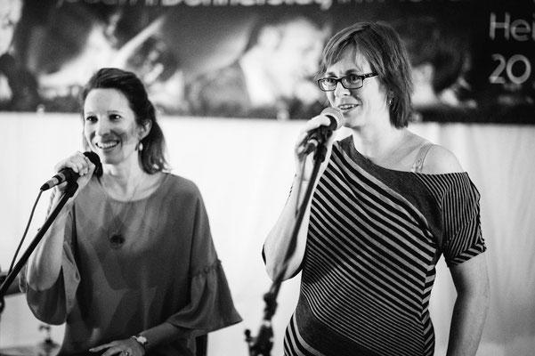 Die Moderatorinnen: Ani Dita und Bianca Heidelberg (Foto: CPmalek, Bildbearbeitung: Nicole Malek)