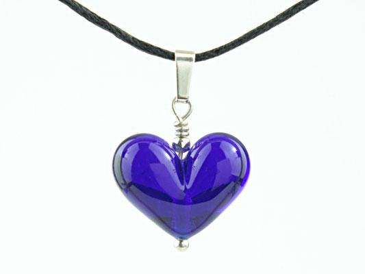 Anhängerchen Herzchen Kobaltblau