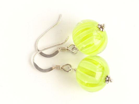 Ohrhänger Wave in Gelbgrün