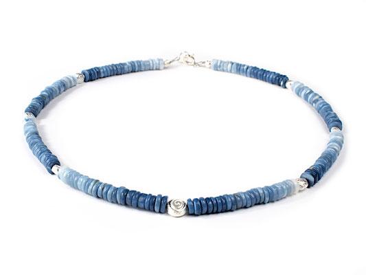 Unikatkette aus Blauem Opal