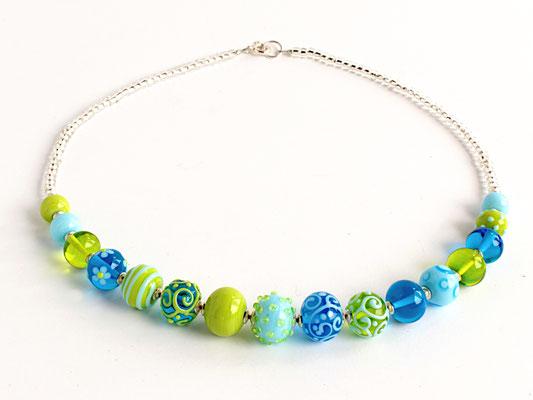 Collierkette Türkis und Grün