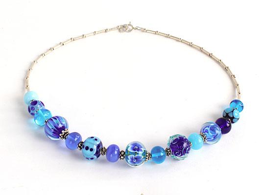Collierkette Blau und Türkis