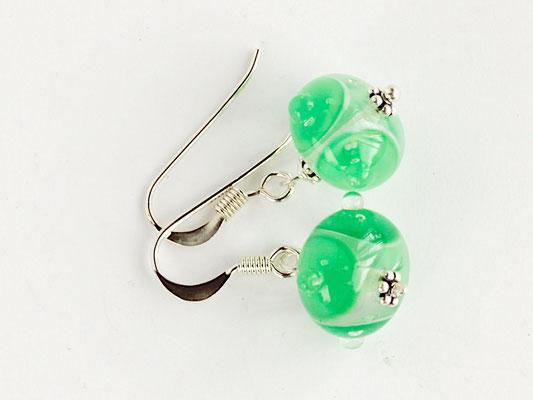 Ohrhänger Boreas in Smaragdgrün