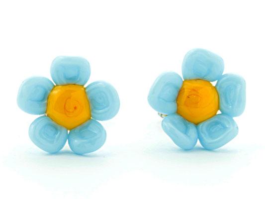 Stecker Blüten türkis