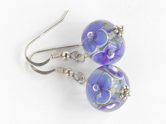 Ohrhänger Blütenzauber blau