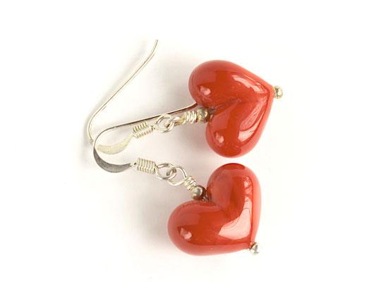 Ohrhänger Herzchen Rot