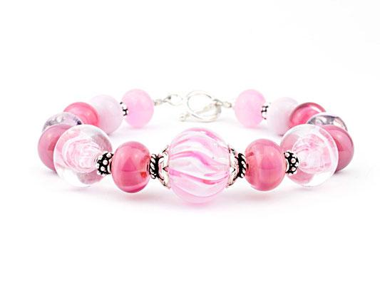Armband Wave rosa