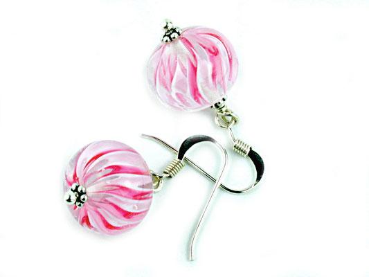 Ohrhänger Wave in Rosa