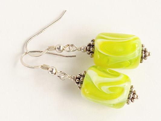 Ohrhänger Calypso in Gelbgrün
