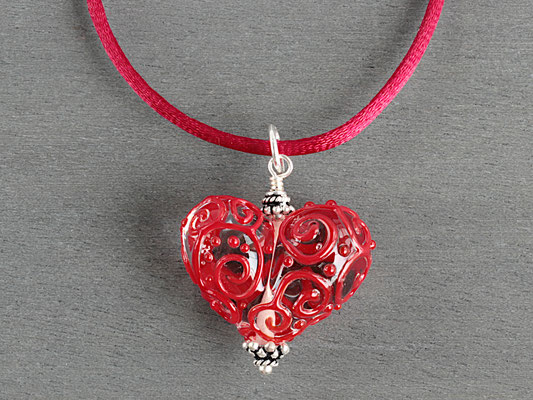 Herz- Anhänger in Rot