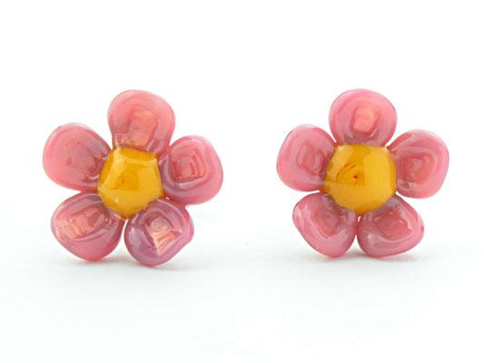 Stecker Blüten pink