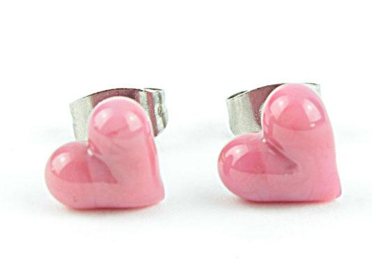Ohrstecker Herzchen pink
