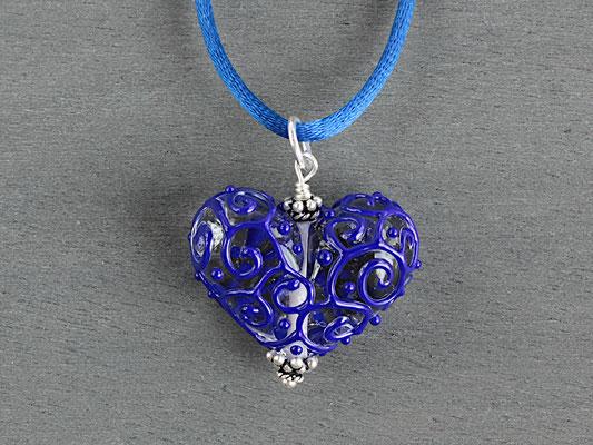 Herz- Anhänger in Blau