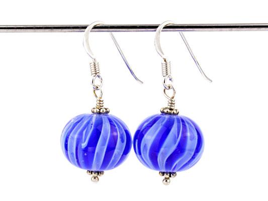 Ohrhänger Wave in Blau